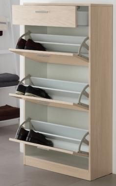 Scarpiera in legno mdf a 3 o 4 ripiani in 3 colorazioni e diverse ...