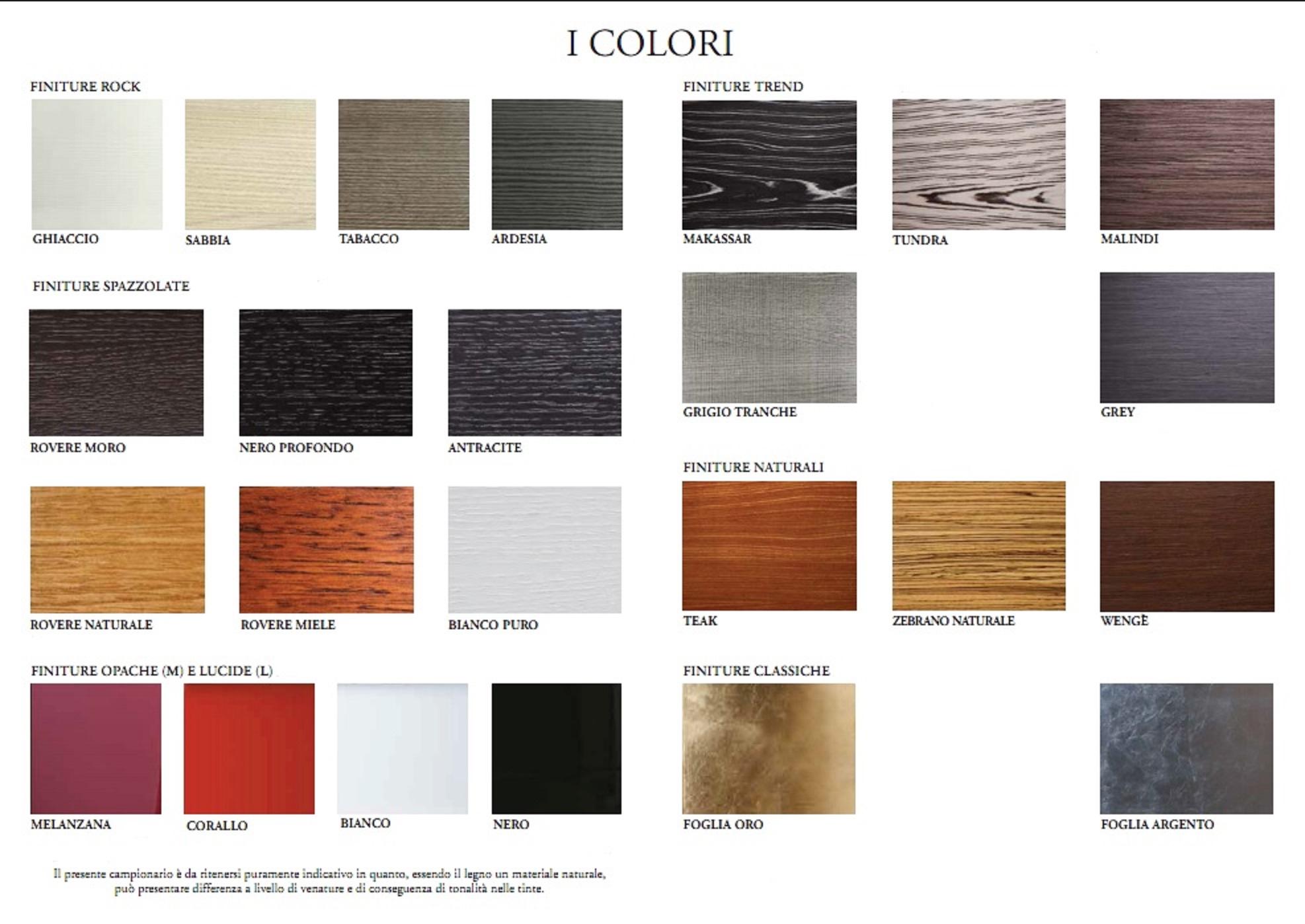 Piano mensola per lavabo d 39 appoggio in legno in vari colori mf - Colori mobili legno ...