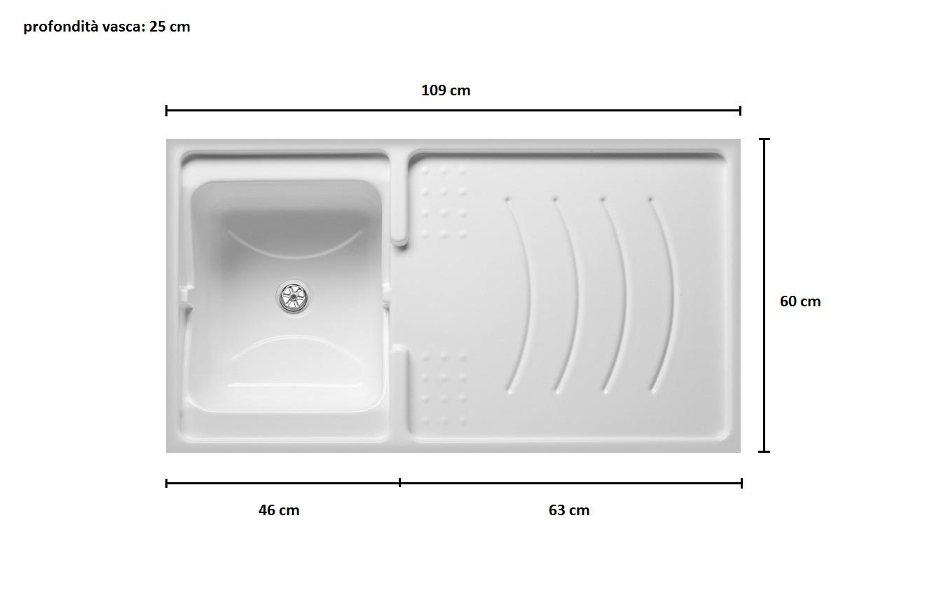 Mobile coprilavatrice in resina 109x60 cm bianco con for Leroy merlin lavatoio
