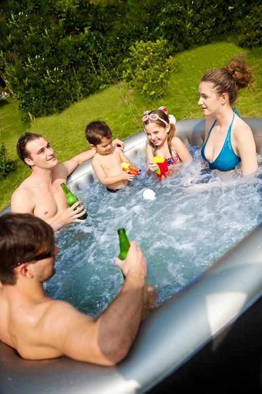 Mini piscina auto gonfiabile 185x185 live per 4 2 con riscaldatore e filtro pannello digitale - Piscina gonfiabile adulti ...