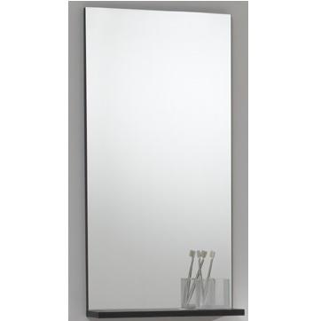 Specchiera da bagno 90x45 con mensola in legno - Specchio con mensola bagno ...