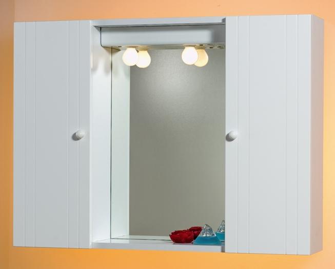 Specchio specchiera ante mdf 80x60x17 bianco lucido bagno - Specchiera bagno prezzi ...