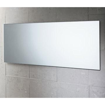 Specchiera da bagno moderno filo muro reversibile 100x40 - Specchio senza cornice ...