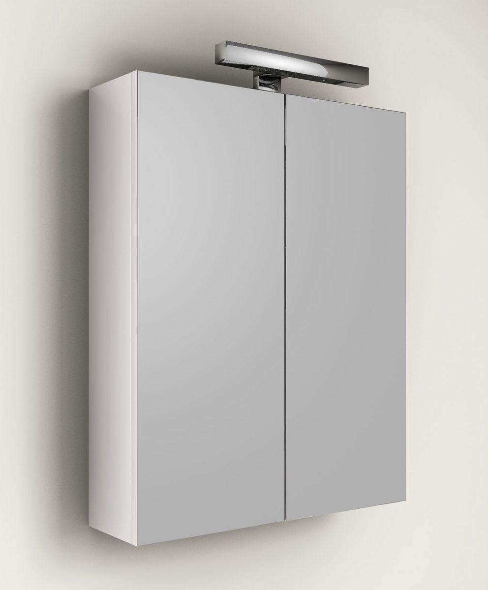 Specchio contenitore per mobile da bagno applique 60 for Specchio bagno con luce ikea