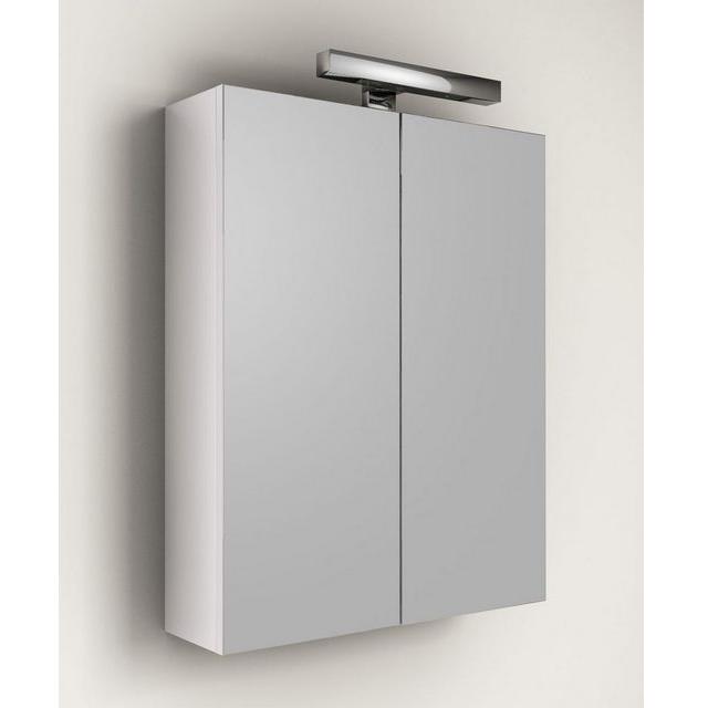 Specchiera contenitore asti colore bianco bh - Specchio contenitore bagno con luce ...