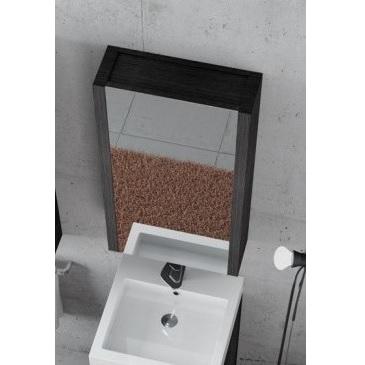 Specchiera da bagno gamma contenitore in rovere pa - Specchiera contenitore bagno ...