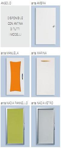 mobile bagno ad angolo zara 57x57 lavabo sottopiano in 20 color