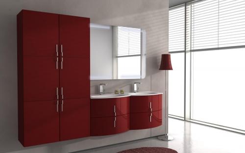 Arredo bagno sting 138 cm in 4 colorazioni mobile for Doppi bagni padronali