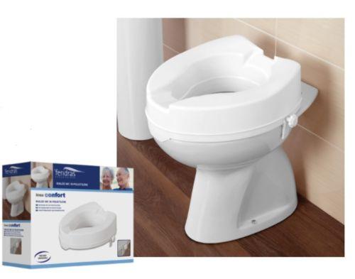 Tavoletta per wc con rialzo bianco universale