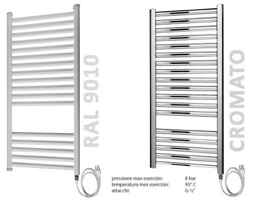 Termoarredo radiatore elettrico bianco o cromato con o - Termosifone elettrico a parete ...