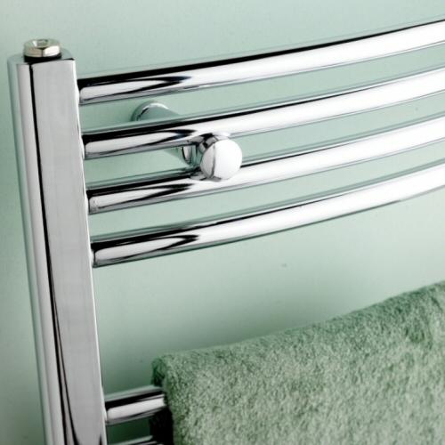 Termoarredo radiatore termosifone curvo cromo 80x50 120x50 150x50 180x50 - Termoarredo bagno cromato ...