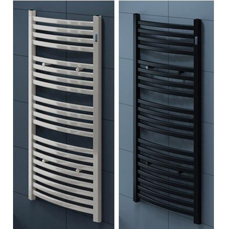 Termoarredo curvo in acciaio inox bianco o nero go - Prezzo termoarredo bagno ...