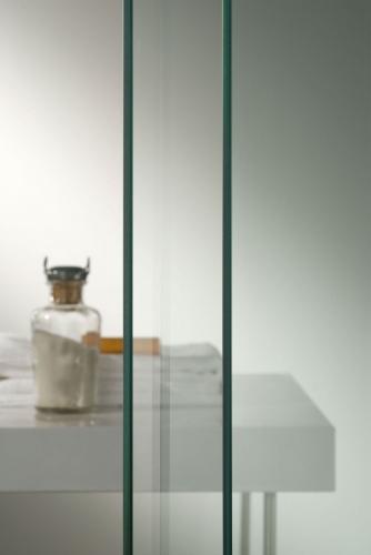 Porta per doccia a nicchia anta battente cristallo - Bagno italia it ...