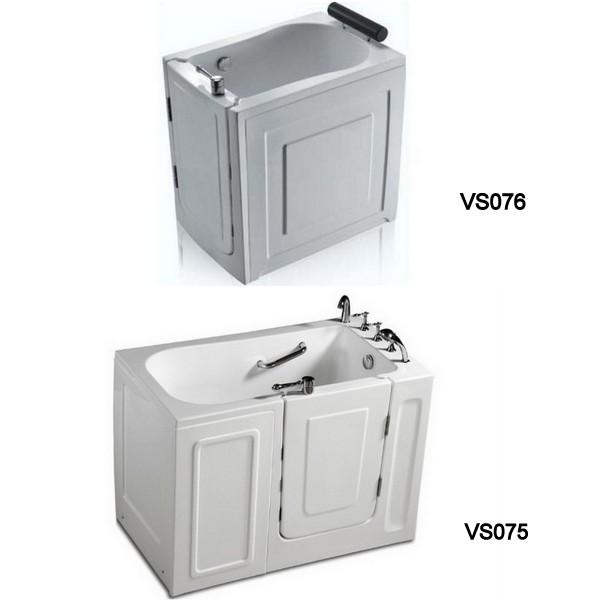Vasca da bagno sportello laterale 136x78 o 100x70 vs075 vs076 - Vasca da bagno con sportello prezzo ...