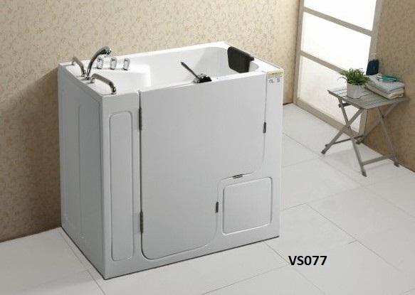 Vasca da bagno 132x76 cm con sportello di ingresso laterale VS077