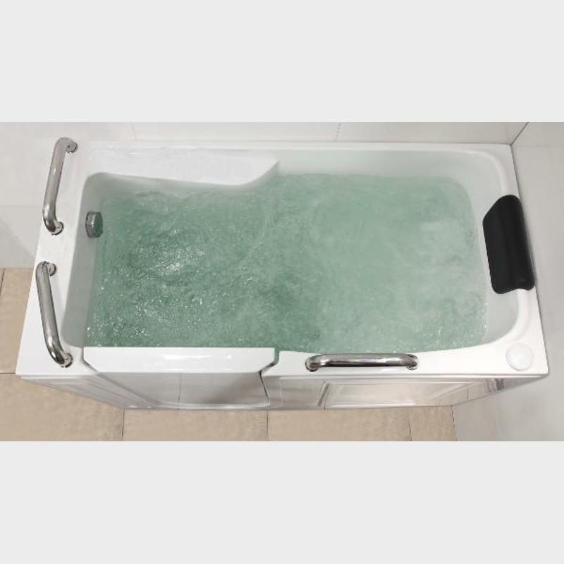 Vasca da bagno 134x68cm con maniglie e sportello con - Vasca da bagno con apertura laterale ...