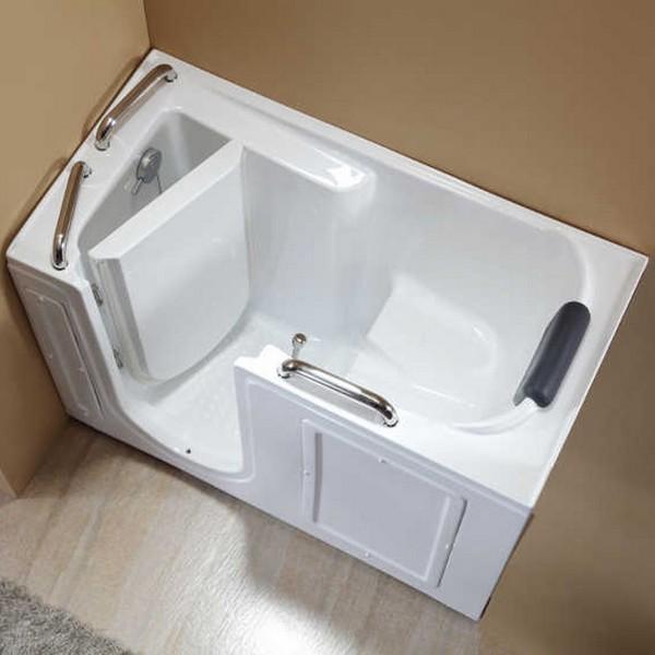 Vasca da bagno sportello laterale 134x68 o 132x76 vs077 vs078 - Vasca da bagno con sportello prezzo ...