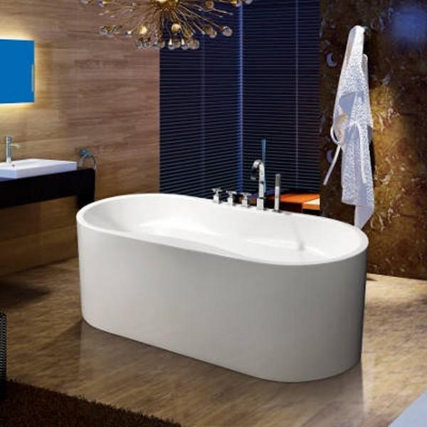 Vasca da bagno freestanding vs068 per centro stanza for Vasca centro stanza