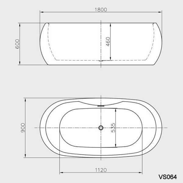 Vasca per centro stanza disponibile in due modelli - Misure vasca bagno ...
