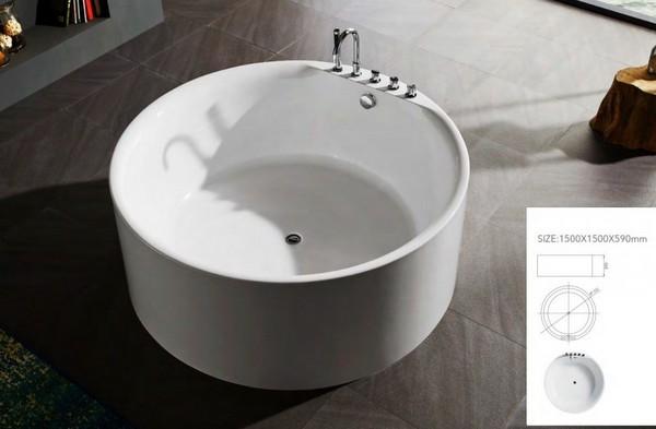 Vasca Da Bagno Disegno : Vasca da bagno freestanding per centro stanza 150 cm circolare vs070