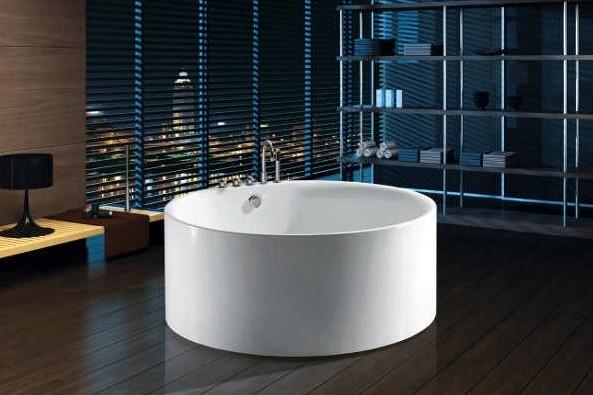 Vasca da bagno freestanding per centro stanza 150 cm circolare vs070 for Vasca da bagno da appoggio
