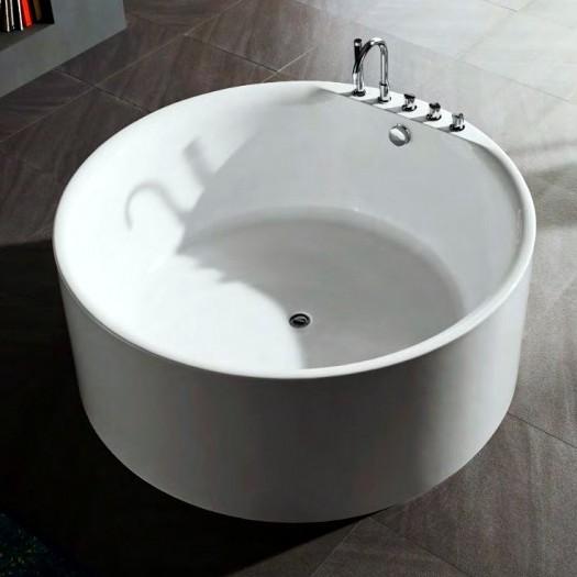 Vasca da bagno freestanding per centro stanza 150 cm circolare VS070