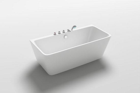 Vasca Da Bagno Semplice : Vasca freestanding h da bagno bianca stile moderno centro