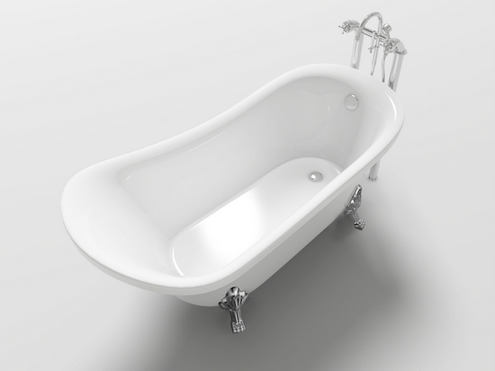 Vasca da bagno ovale freestanding stile classico piedini cromati for Vasca da bagno freestanding