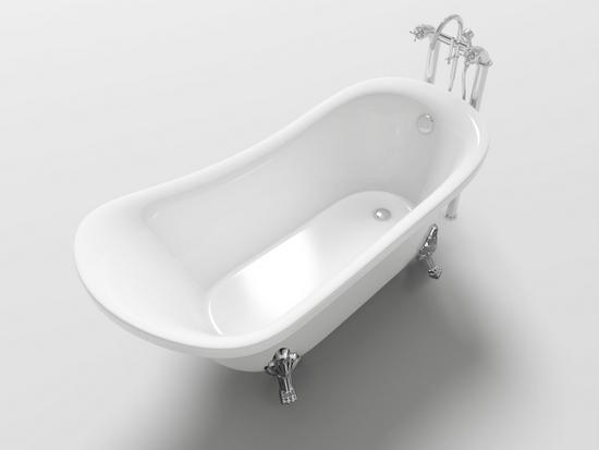 Vasca Da Bagno Ovale : Vasca da bagno ovale freestanding stile classico piedini cromati
