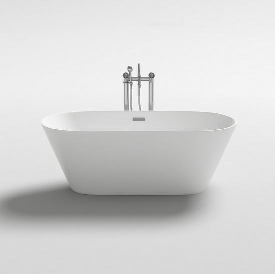 Vasca da bagno freestanding 170x80 160x80 x150x75 stile moderno bianca vs086 for Vasca da bagno freestanding