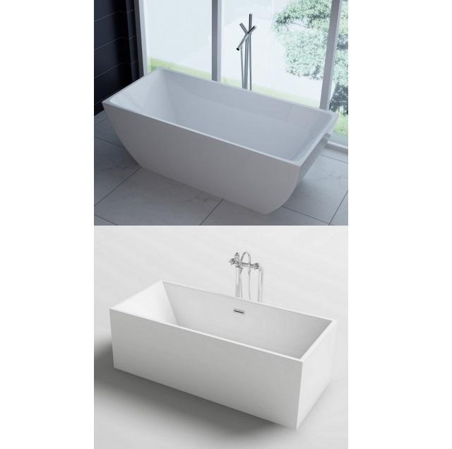 Vasca da bagno rettangolare 170x80 o 179x80 freestanding stile ...