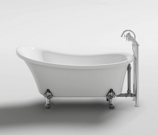 Vasca da bagno ovale freestanding 160x72x75 stile classico con ...