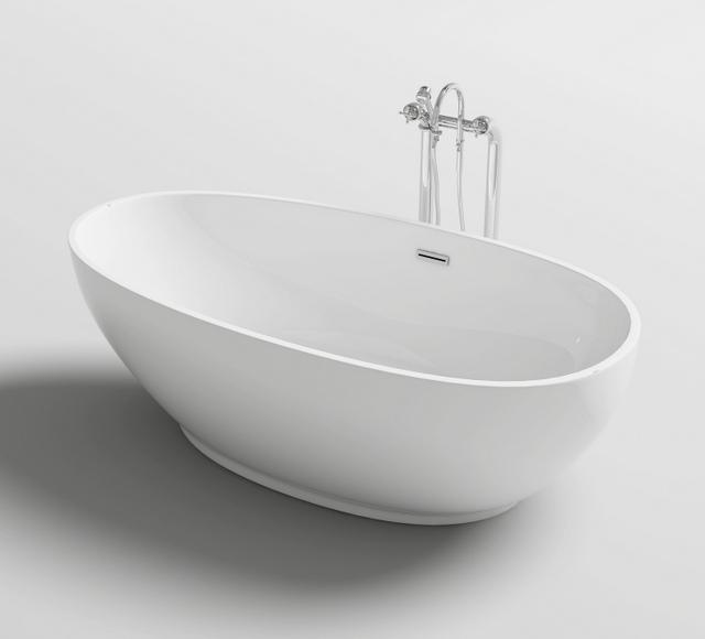 Vasca da bagno ovale freestanding 170x80 o 180x90 stile - Vasca da bagno dwg ...