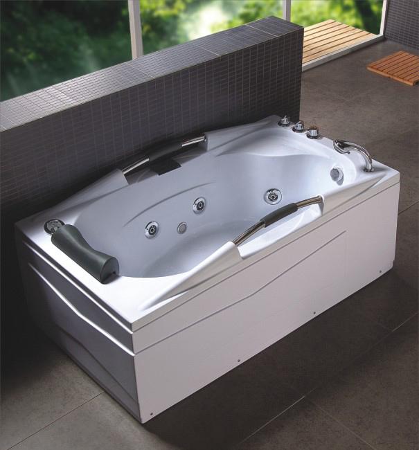 Vasca idromassaggio 160x85 full optional con cromoterapia e rubinetteria a cascata - Vasca idro da esterno ...