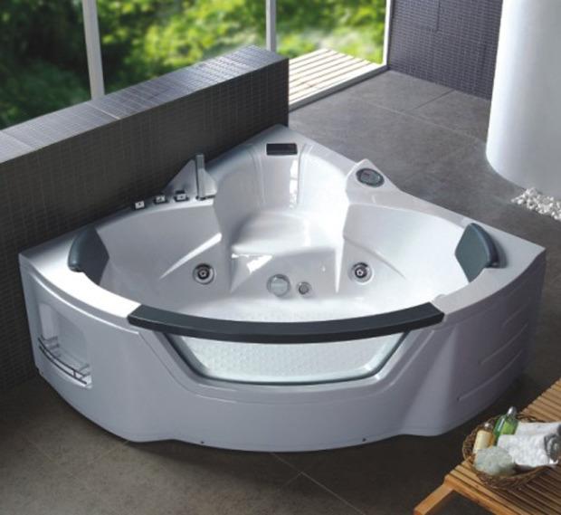 Vasca idromassaggio a 10 o 18 idrogetti per 2 persone pd - Vasca da bagno con idromassaggio ...