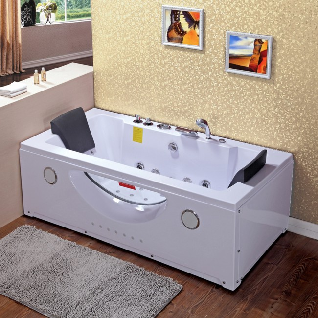 Vasca idromassaggio 180x90 32 getti con doppia pompa airpool e whirlpool pa - Vasca da bagno doppia ...