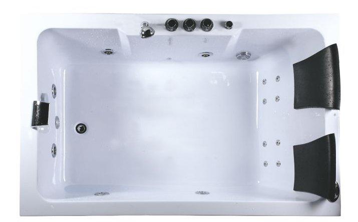 Vasca idromassaggio 185x120 rettangolare 2 posti con cromoterapia ...