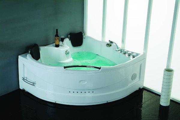 Vasca idromassaggio 155x155cm a 9 idrogetti per 1 persona vi - Tappeto idromassaggio per vasca da bagno ...