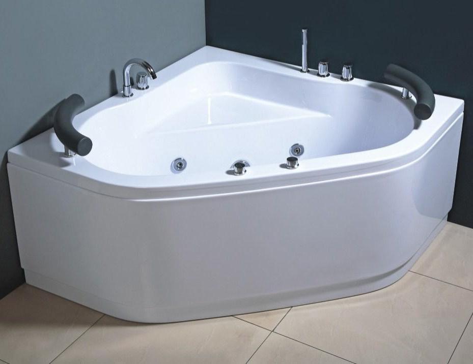 Vasca idromassaggio 130x130 angolare due posti 8 getti con - Vasche da bagno angolari misure e prezzi ...