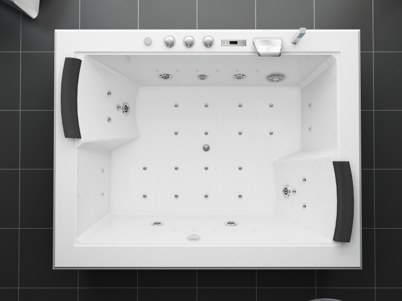 Jacuzzi 180x141 Full Optional 32 Jets Heater Chromotherapy R Ebay