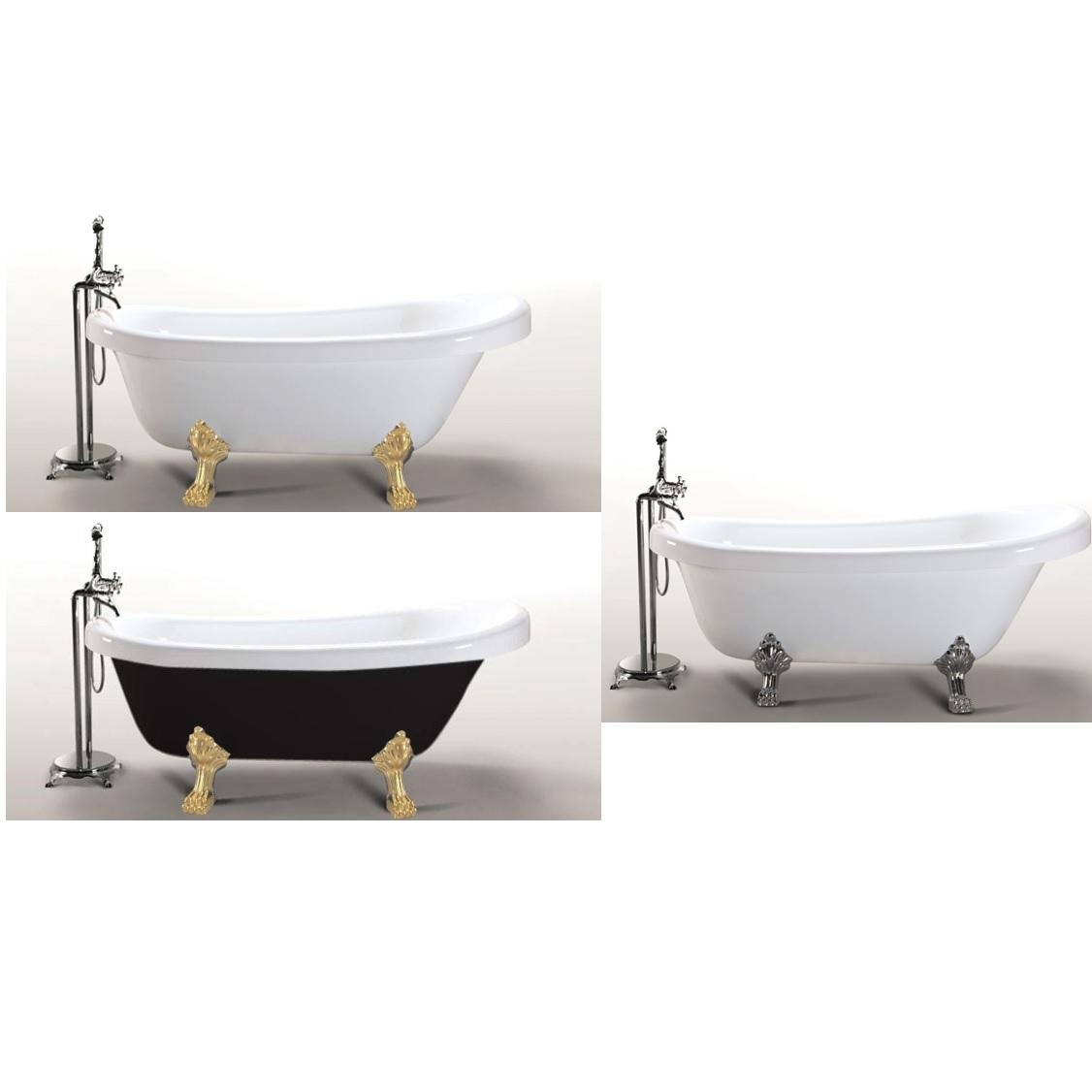 Vasca tradizionale da bagno stile classico retr 170x80 in - Vasca da bagno retro ...