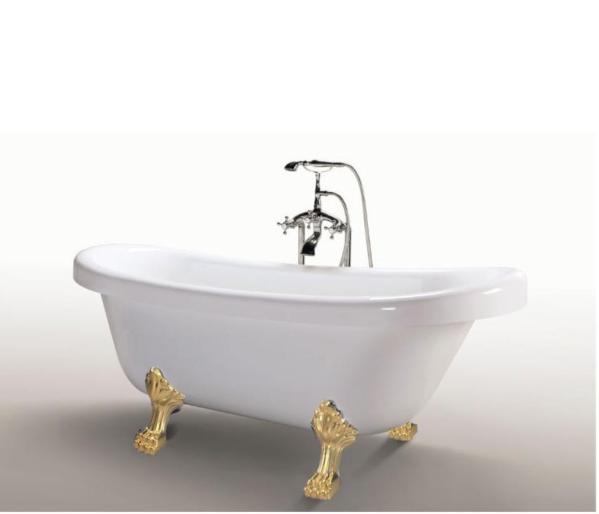 Vasca tradizionale freestanding da bagno stile classico retr 170x80 in diverse versioni vs044 - Vasca da bagno con piedini prezzi ...