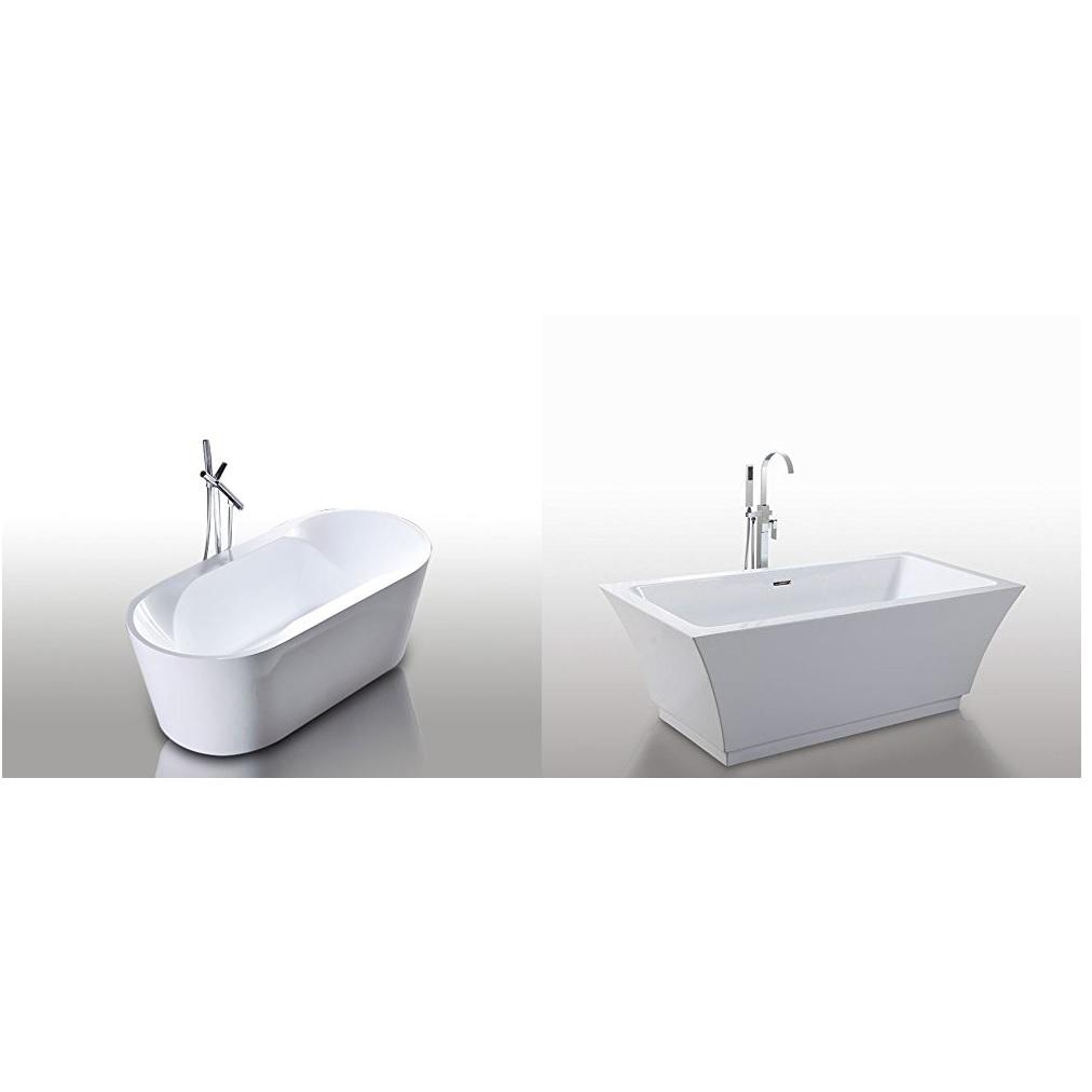 Vasca tradizionale da bagno stile moderno 170x80 172x80 bianca vs045-vs046