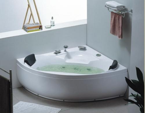 Vasca idromassaggio 150x150 rubinetteria 12 getti hd - Vasca da bagno angolare piccola ...