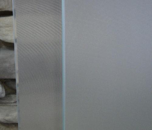 Porta battente per Box doccia nicchia vetro trasparente o puntinato hd