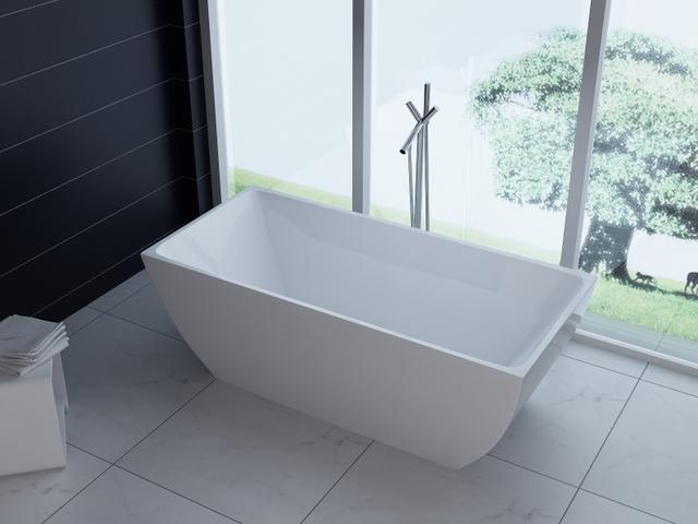 Vasca Da Bagno Freestanding In Acrilico : Vasca da bagno rettangolare  freestanding in acrilico