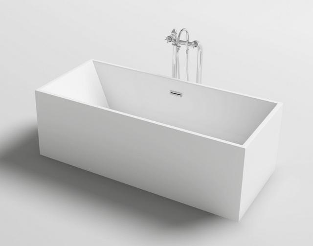 Vasca da bagno rettangolare 170x80 o 179x80 freestanding stile moderno per centro stanza vs052 - Stucco per vasca da bagno ...