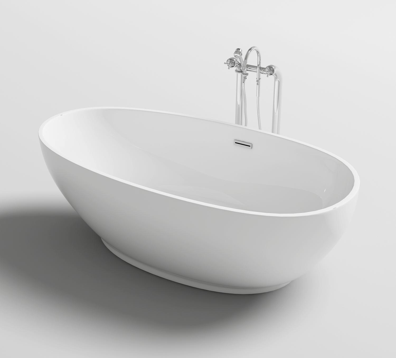 Vasca da bagno ovale freestanding 170x80 o 180x90 stile - Vasca da bagno freestanding ...